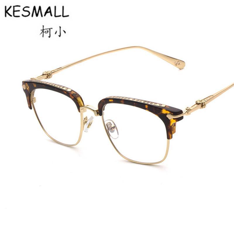 301cf2ad41e KESMALL 2018 Glasses Frame Women Men Classic Transparent Lens ...