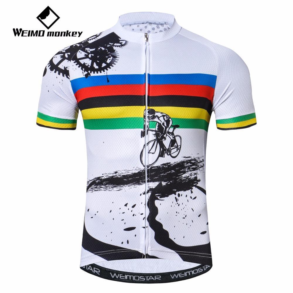 Compre 2018 Camisa De Ciclismo Dos Homens Da Bicicleta Jersey Verão Pro Mtb  Camisas De Manga Curta Equipe Top Azul Bicicleta Branco Vermelho De  Pretty05 71eebd9dd8671