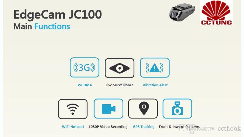 JC100 1080P HD 3G intelligentes Auto DVR mit dem GPS, das Live-Videorecorder-Überwachung durch PC und freie bewegliche APP aufspürt