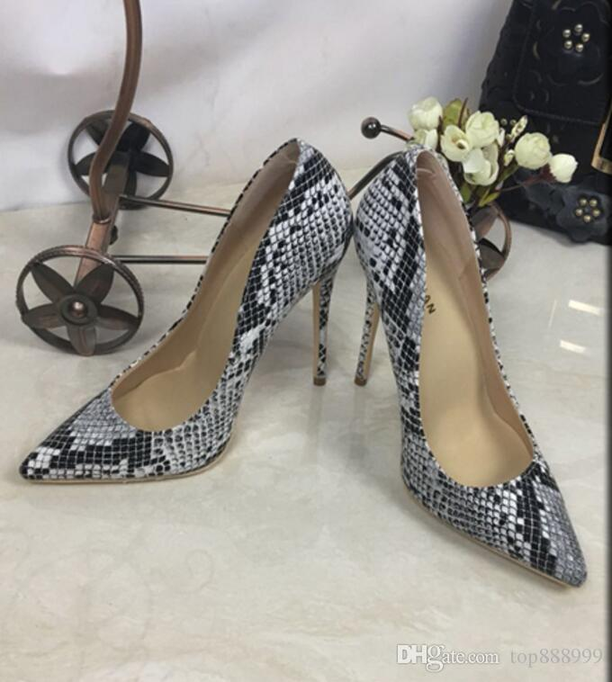 96b170ec4b6e Black Women Pumps Snake Shoes Woman Red Bottom Pointed Toe High Heels Shoes  Luxury Designer Wedding Bridal Shoes Sexy High Heels 35 44 Birkenstock Shoes  ...