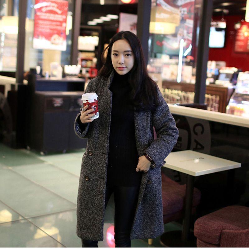 Women woolen coat 2018 new winter jacket ladies cocoon type wool coat thickening women overcoat winter warm women woolen coat