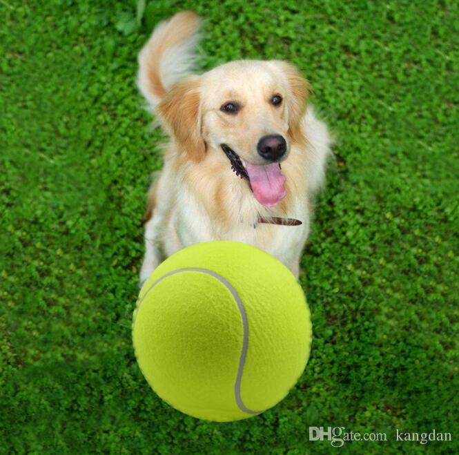 24 CM grande bola De Tênis brinquedo pet dog inflável Bolas De Tênis mastiga brinquedo 9.5 polegadas Gigante Pet Toy Mega Jumbo Crianças Brinquedos Bolas Ao Ar Livre