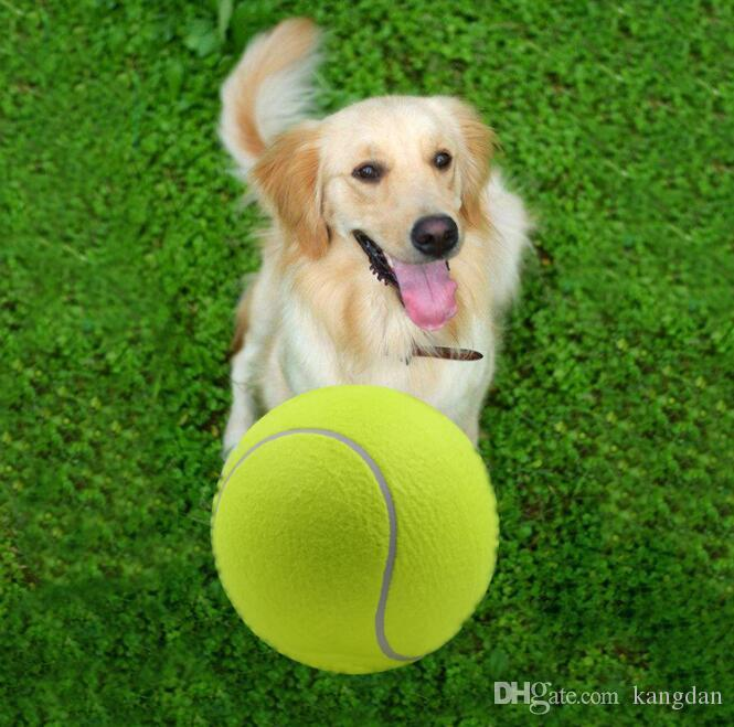 24CM large Tennis Ball toy pet dog inflatable Tennis Balls chews toy 9.5inch Giant Pet Toy Mega Jumbo Kids Toys Balls Outdoor