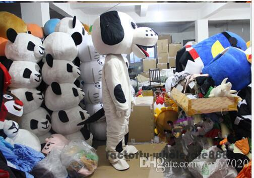 New Adult Cute BRAND Dot Dog Mascot Costume Fancy Dress Hot Sale Party costume Free Ship