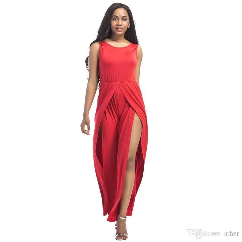 Plus Size 3xl Sleeveless Wide Leg Jumpsuit Women Romper 2018 Summer