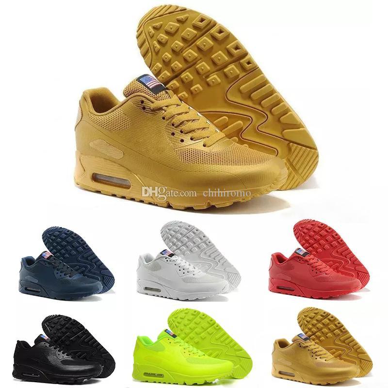 save off e4b74 41930 Acheter Nike Air Max 90 HYP PRM QS Chaussures Hommes 90 HYP PRM QS  Chaussures Casual Vente En Ligne De Mode Fête De L indépendance Zapatillas  Drapeau USA ...