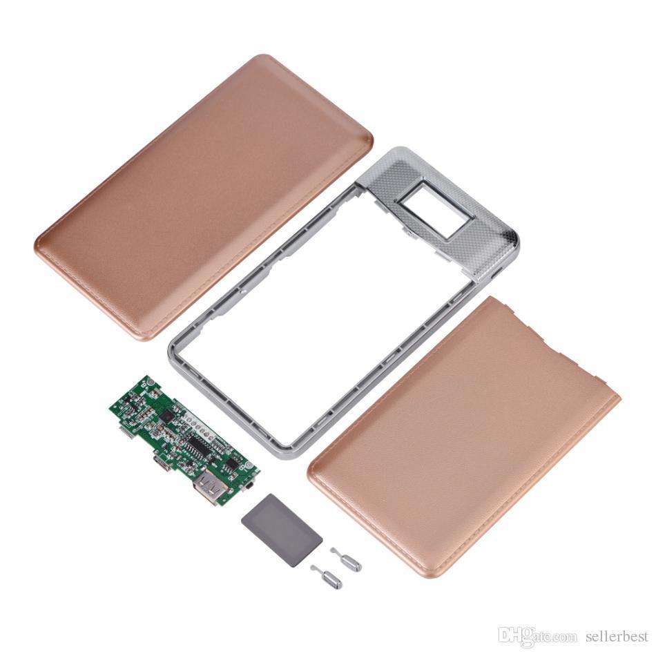 USB Charger Power Bank Case Circuit Board DIY Kit QC3.0 Fast Charging Micro USB USB Type-C Input LCD Digital Display
