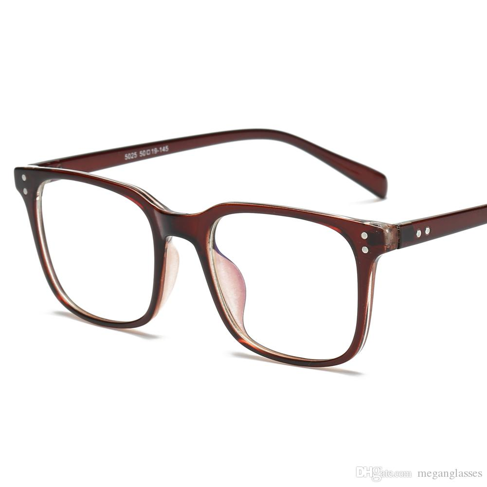 Fashion Anti Blue Ray Designer Eyeglasses Rectangle Optical Myopia ...