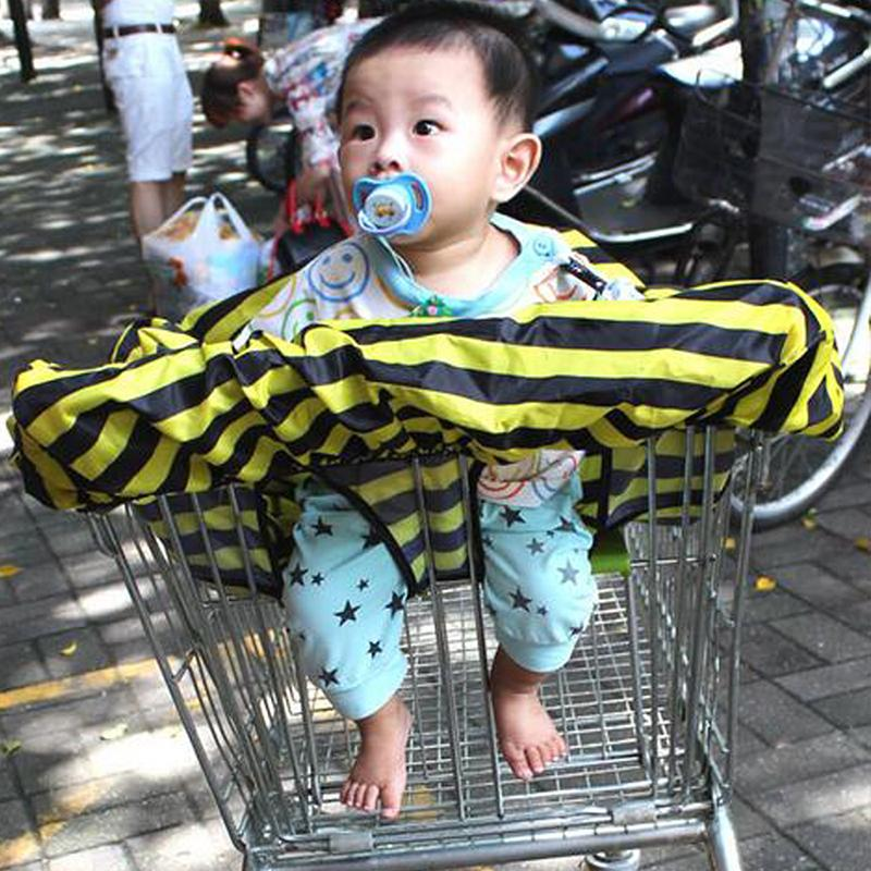 Shopping Cart Covers Activity & Gear 2019 Popular Fashion High Quanlity Baby Shopping Cart Cover Anti Dirty Baby Safety Seats Striped Nylon For Outdoor Kids Chair