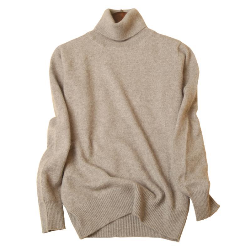 brand new 168ad 17944 Maglioni di cachemire 2018 maglioni lavorati a maglia da donna autunno /  inverno maglione collo alto calore maglioni pullover da donna collo alto di  ...