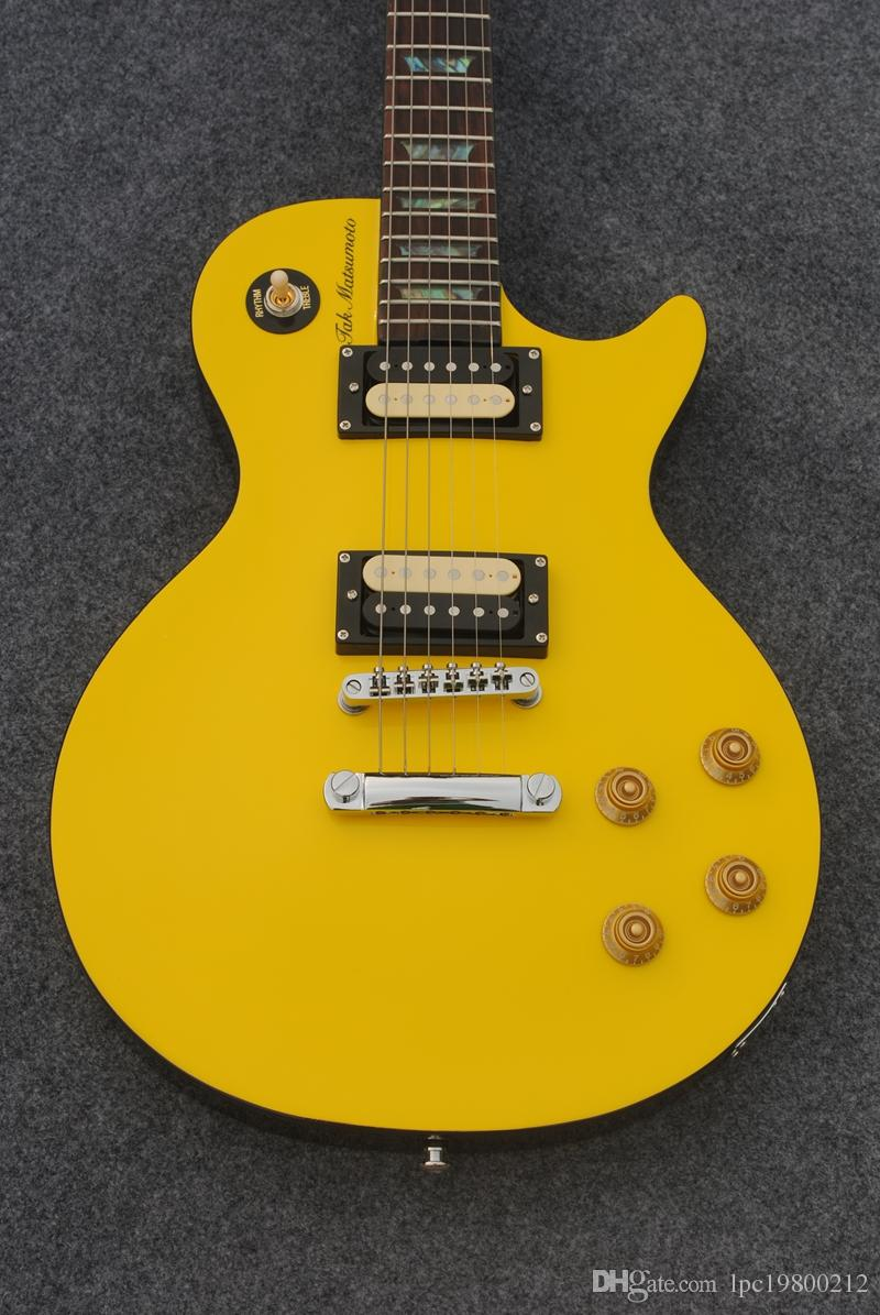 Factory OEM guitar shop,classical music instrument,Bone Yard electric guitars with yellow maple top,free shipping