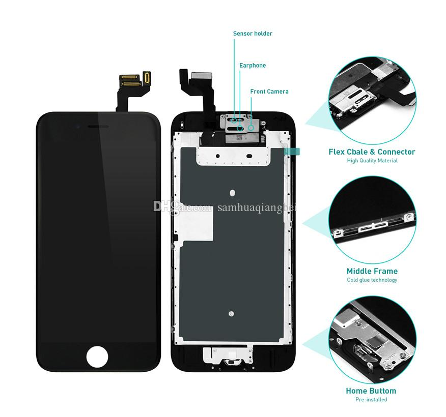 Lcd Display For Iphone 6 6s 7g 8g X Touch Digitizer Complete Screen With Frame Full Assembly Replacement For Iphone 6 Plus