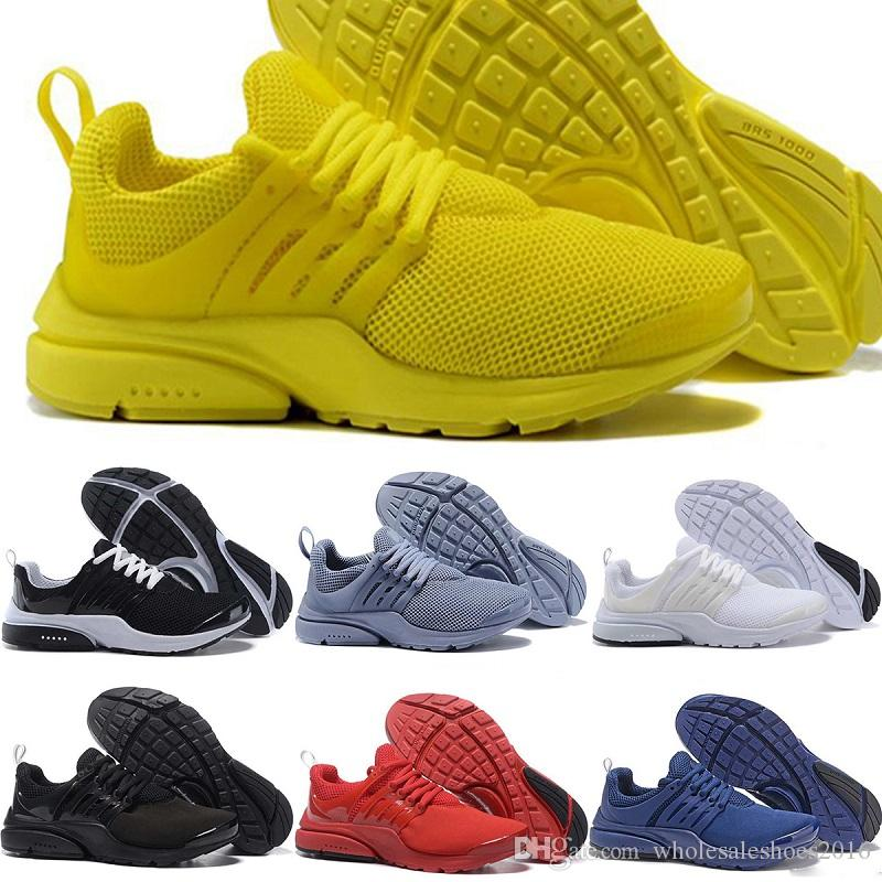 2018 New Mens Womens Presto Running Shoes BR QS Triple S White Black Oreo  Red Yellow Blue Grey Breathable Casual Sports Sneakers 36 45 UK 2019 From  ... bbd4295b7e
