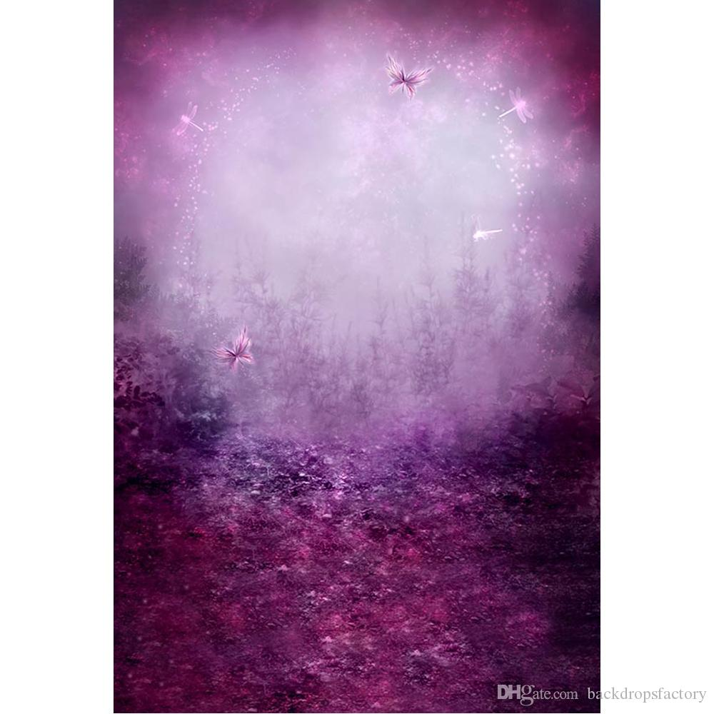5db61e91994 2019 Enchanted Garden Fairytale Wonderland Purple Backdrop Photography  Butterflies Dragonfly Princess Girl Party Themed Photo Booth Background  From ...