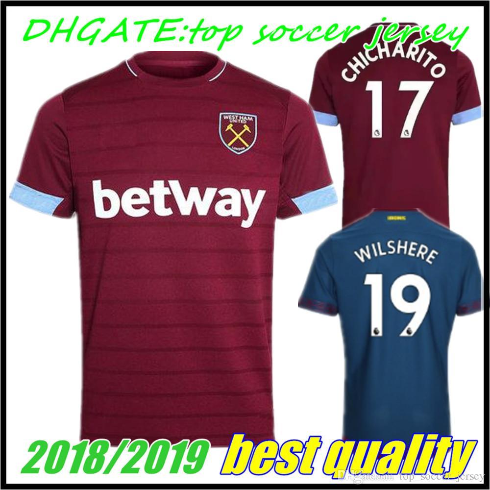 1fd41e1fab0ab CHICHARITO TOP 18 19 West Ham United Home Soccer Jersey ZABALETA ...