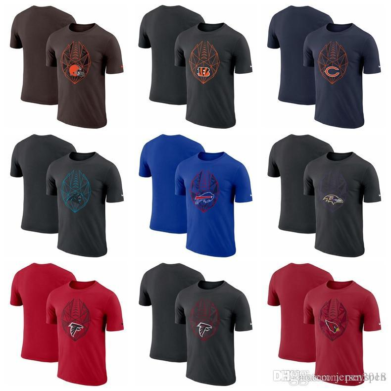 finest selection 408b5 1927e Pure color Cleveland Browns Cincinnati Bengals Chicago Bears Carolina  Panthers Buffalo Bills Baltimore Rav Fan Gear Icon Performance T-Shirt
