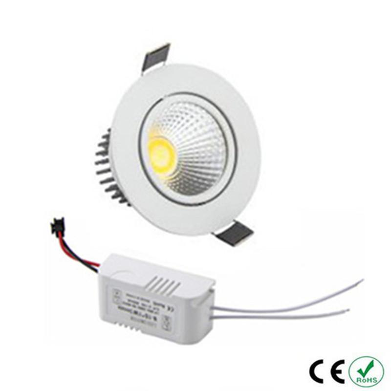 Energy Saving COB Downlight Dimmable 3w 5w 7w LED Recessed Ceiling Bulb Super Bright Spot Light Fixture Flood lighting Lamp