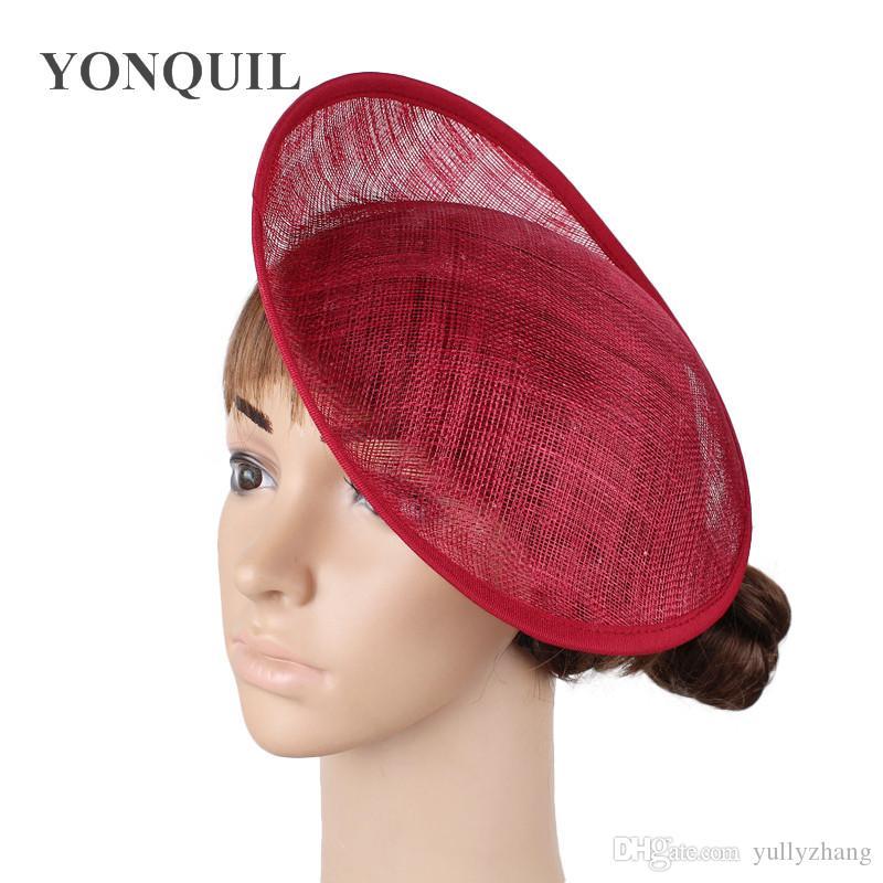 232079960c6a7 2019 2018 10 25CM Marron Fascinator Base Wedding Royal Ascot Party Sinamay  Fascinator Hats Base DIY Hair Accessories Craft SYB27 From Yullyzhang