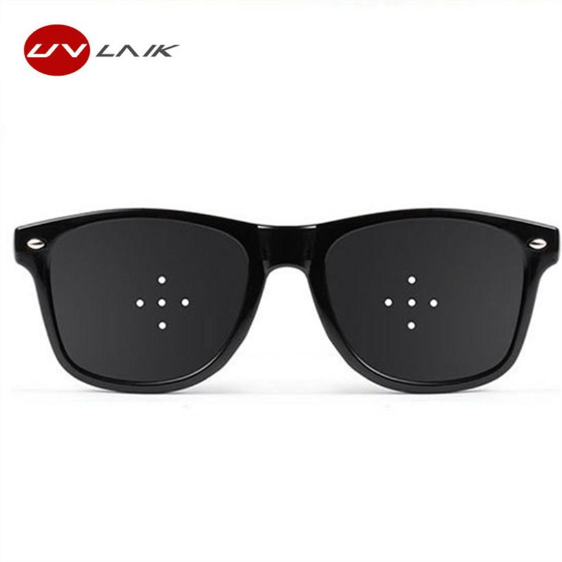 8ce804a782 UVLAIK Anti Myopia Pinhole Glasses Pin Hole Sunglasses Men Women Eyesight  Improve Natural Healing Vision Care Eyeglasses Prescription Glasses Online  Round ...