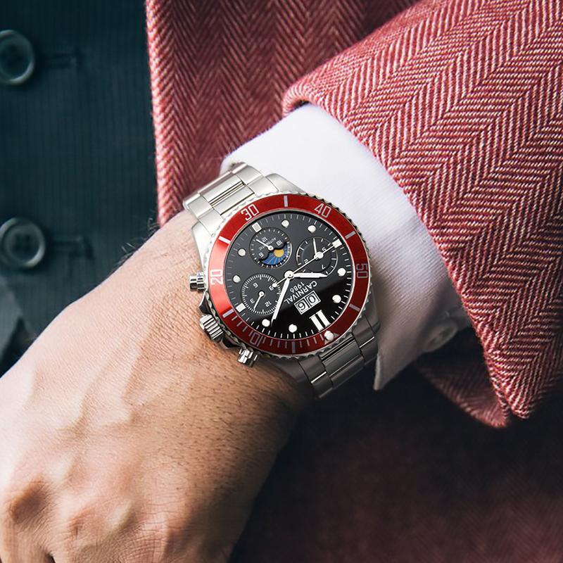 4c4342b24c9 Compre Relógios Mecânicos Relógios De Carnaval De Luxo Em Aço Inoxidável  Relógios Automáticos Homens À Prova D  Água Relógio Relogio Masculino  Luminosa 2018 ...