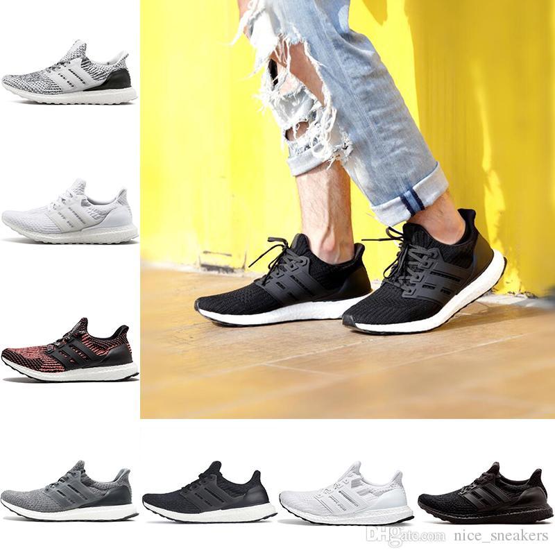 separation shoes 45ca6 e78c2 Acheter Adidas Ultra Boost 3.0 4.0 Ultraboost The Details Page For More  Logo Designer Chaussures De Course Hommes Femmes Triple Noir Blanc Crimson  Pulse ...