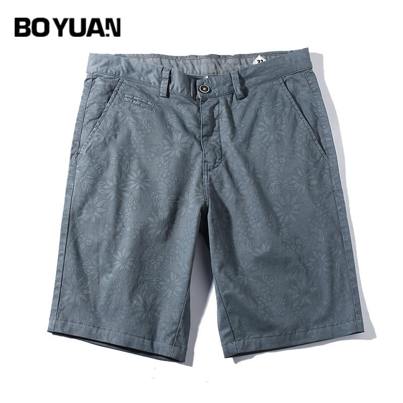 24f3345a6023 BOYUAN Mens Shorts 2018 New Summer Fashion Casual Cotton Slim Fit Beach  Shorts Cotton Print Casual Trousers Male GB789 UK 2019 From Vanilla01