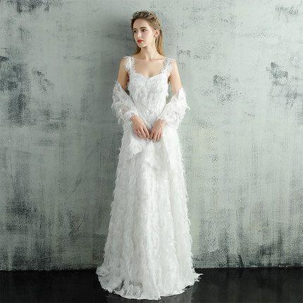 White Evening Dress Long Prom Dresses 2018 Galajurk A Line ...