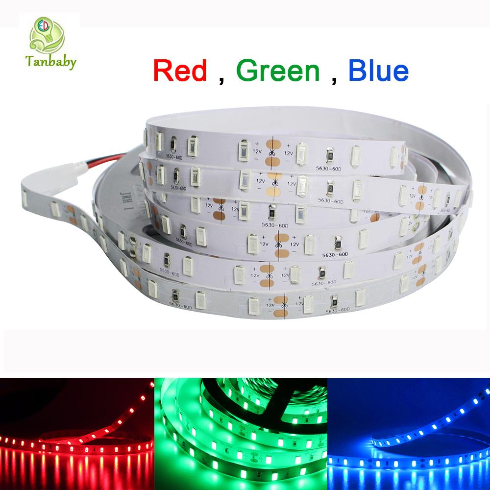 Taby 5630 LED Strip Light 5M 300 LED DC12V Flexible 5730 led Ribbon With PIR Sensor Switch controller and 24W power adapter