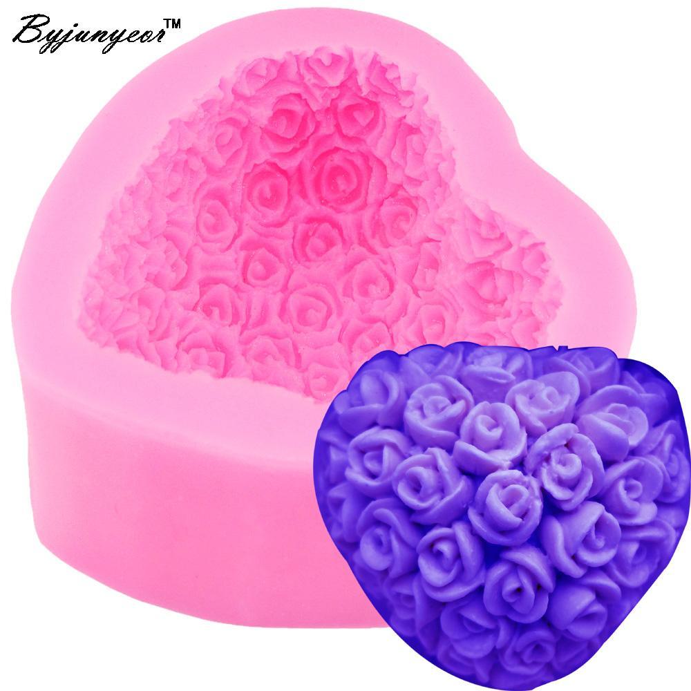 Grosshandel Byjunyeor S036 3d Rose Blumenstrauss Liebevolle Herzform