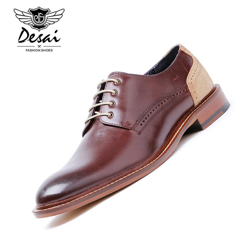 Desai Brand Men Shoes High Quality Genuine Leather Shoes Men Business Suits Luxury Male Leather Dress Men Shoes Size 38-43 Various Styles Men's Shoes Shoes