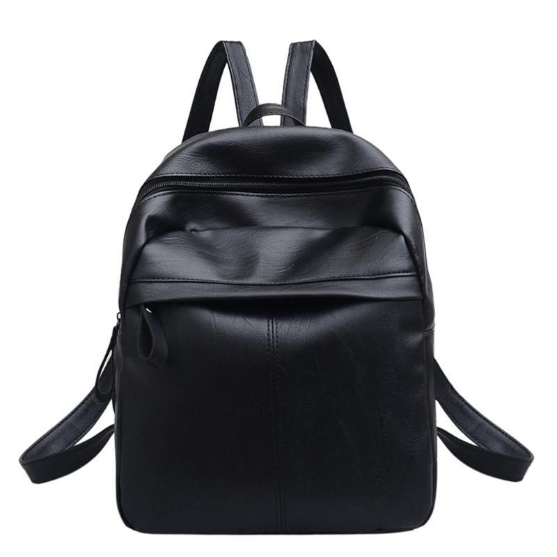 7354aec43d New Women Travel Backpack Korean Female Rucksack Leisure Student School Bag  Rucksack Soft PU Leather Women Large Backpacks Girl Backpacks Toddler  Backpack ...
