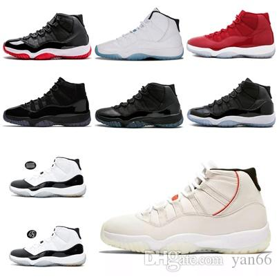 3f5b51dc1936 Men Basketball Shoes High Concord 45 11 XI 11s Platinum Tint Cap And ...