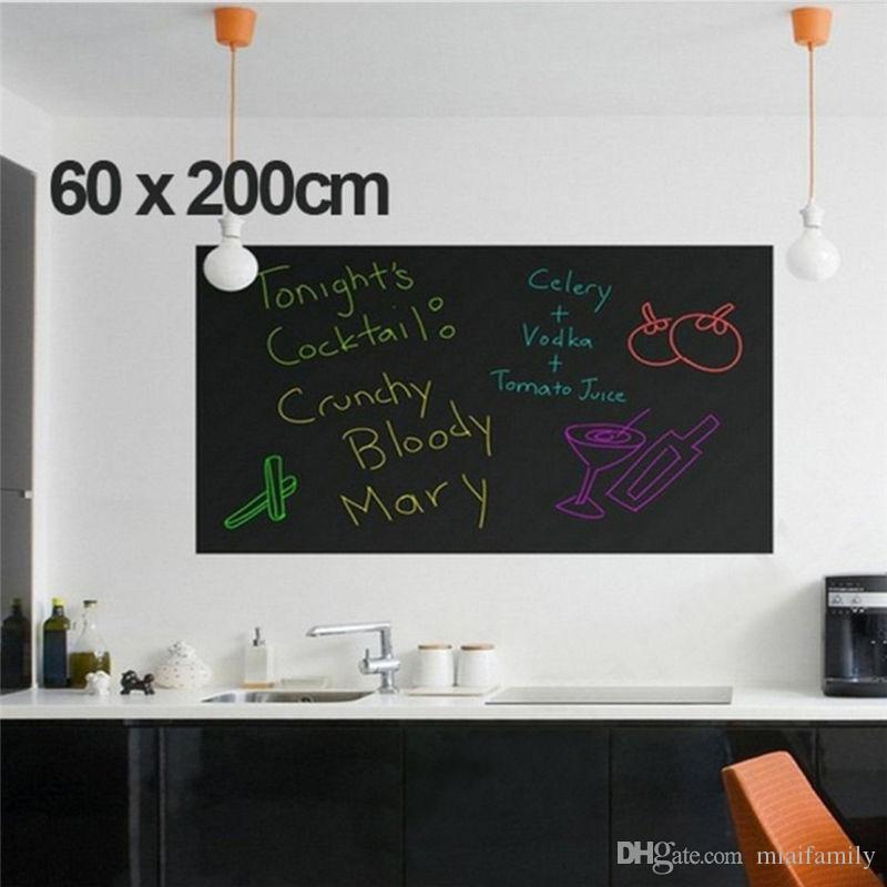45x200 cm Tablero de tiza Pizarra Pegatinas Extraíble Vinilo Dibujar Decoración Calcomanías Murales Arte Pizarra Etiqueta de la pared para niños Habitaciones