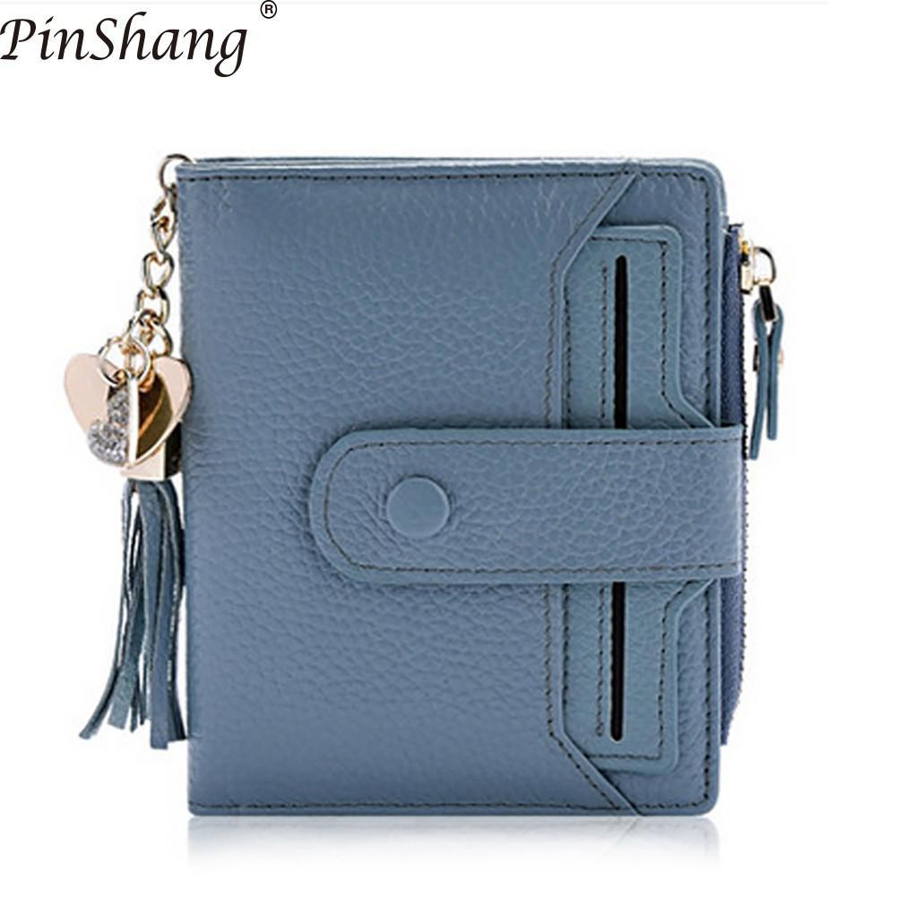 PinShang Women S Purse Mini Genuine Leather Bifold Wallet With ID Window  Card Sleeve Anti RFID Clutch Coin Purses Wallets ZK40 Mens Front Pocket  Wallet ... 98faa421ea