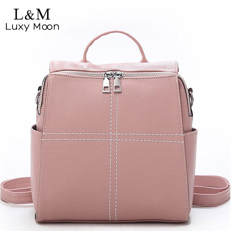 28905b5bbd38 New Travel Backpack Korean Women Female Rucksack Thread Leisure Student  School Bag Soft PU Leather Women Bag 2018 XA525H Backpacks For Kids Backpack  With ...