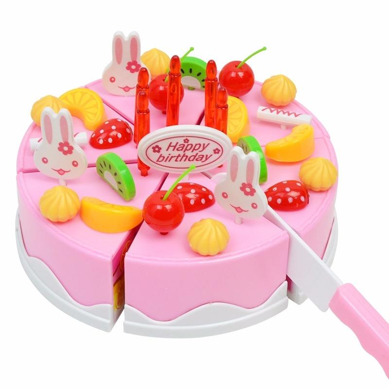 Cut Fruit Cakes Can Childrens Play Toy Girl Simulation Birthday Cake DIY Toys