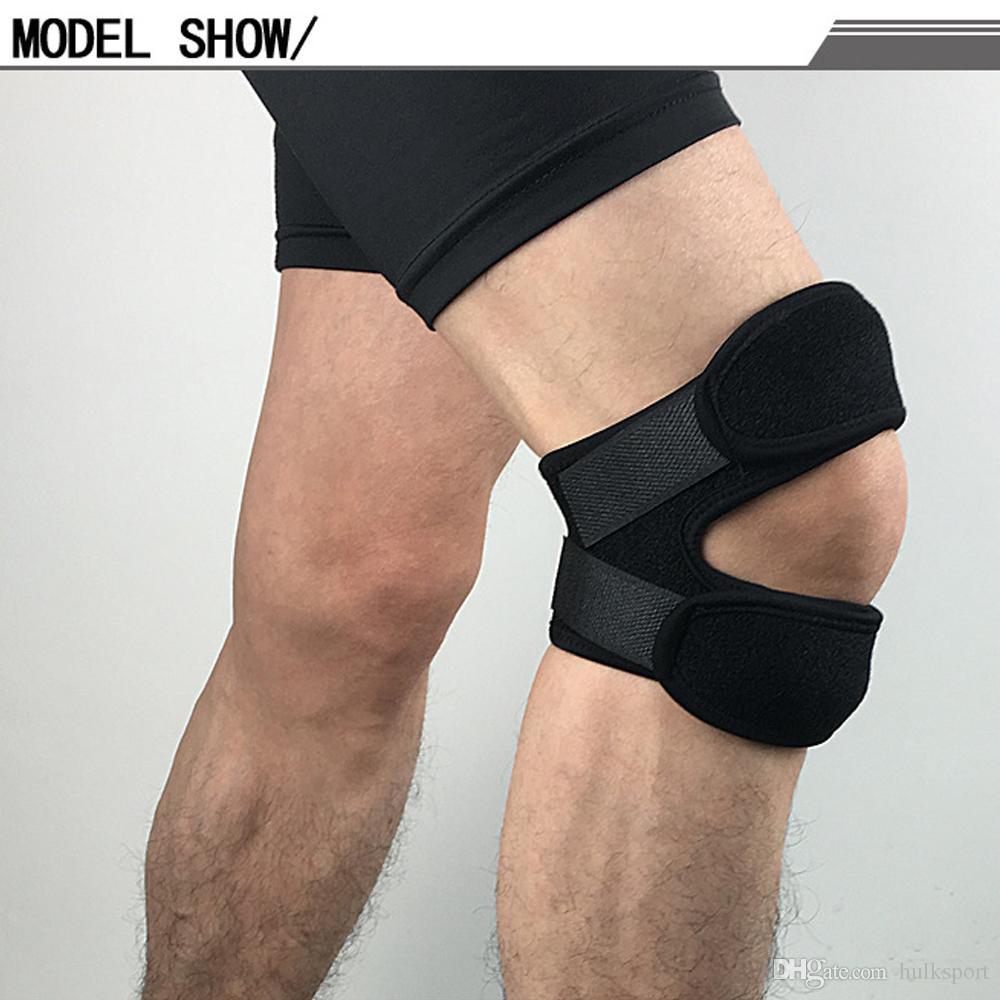 Profissional Joelho Preto Pad Patela Protetor de perna Ajustável Suporte EVA Anticolisão Joelho Brace Terno para Montanhismo Escalada Em Rocha