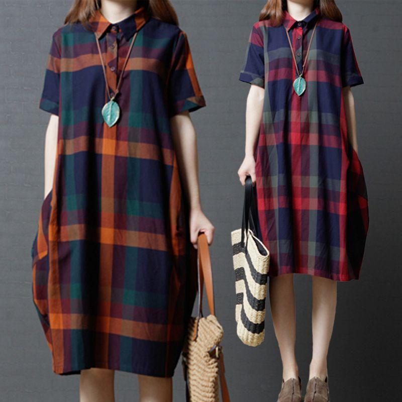 2018 Summer Dress New Korean Version Loose Big Code Women Fashion ... 7db85724d81e