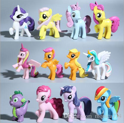 Großhandel 12 Stücke 7 Cm My Little Pony Cartoon Film Figur Sport