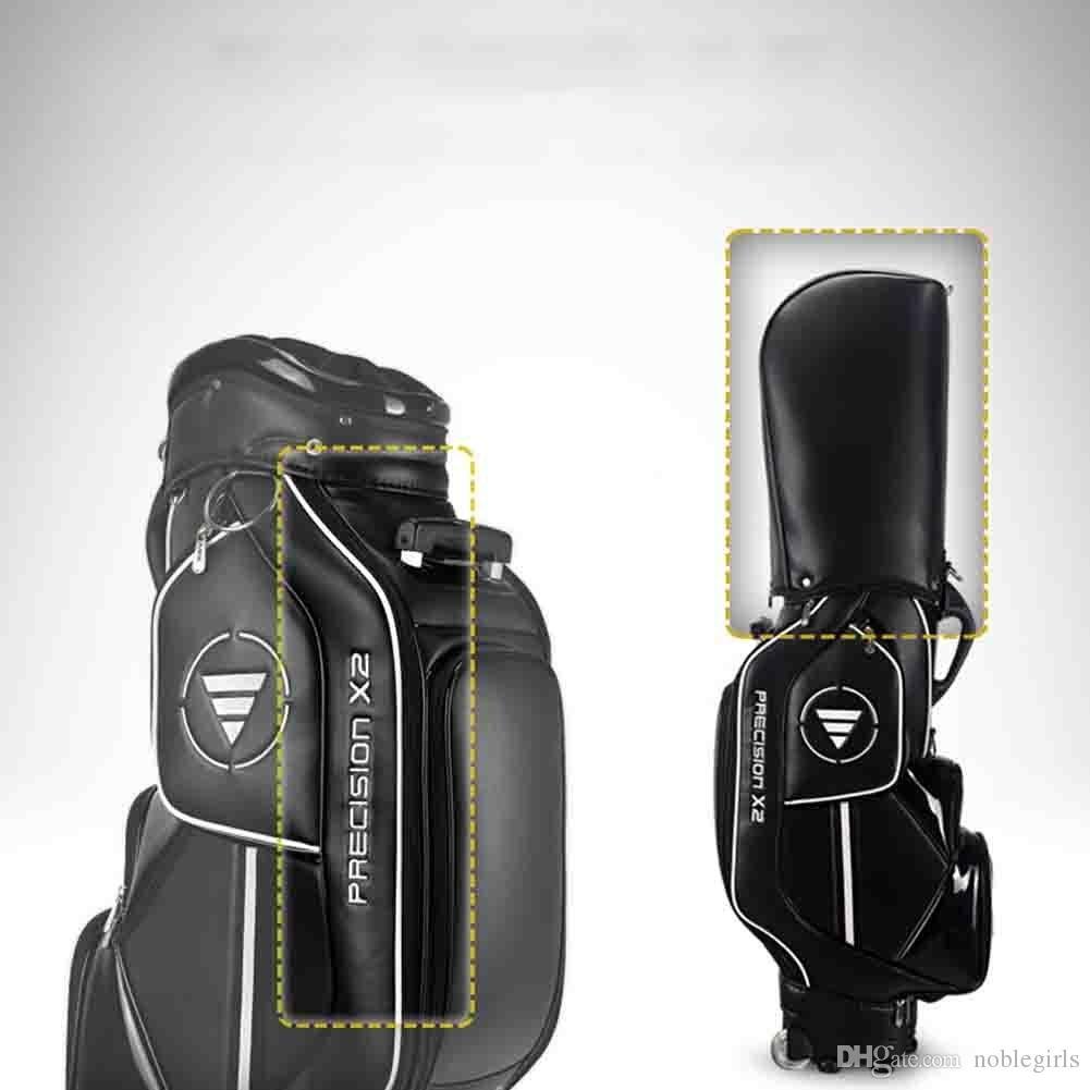PGM Golf Cart Bags PU Wheeled Golf Estándar Carry Bag Golf Clubs Bag ----- 8-ways Divisor acolchado Top Large Capacity