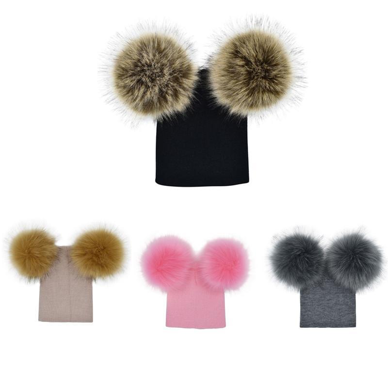 806ee0cde35 Brand Kids Baby Warm Winter Hats Toddler Children Wool Knit Beanies ...