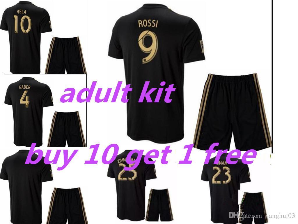 hot sale online 820c5 dbbb4 Adult kit 2018 2019 LAFC Soccer Jersey men HOME black away white Carlos  VELA GABER ROSSI Football jerseys Los Angeles Shirt
