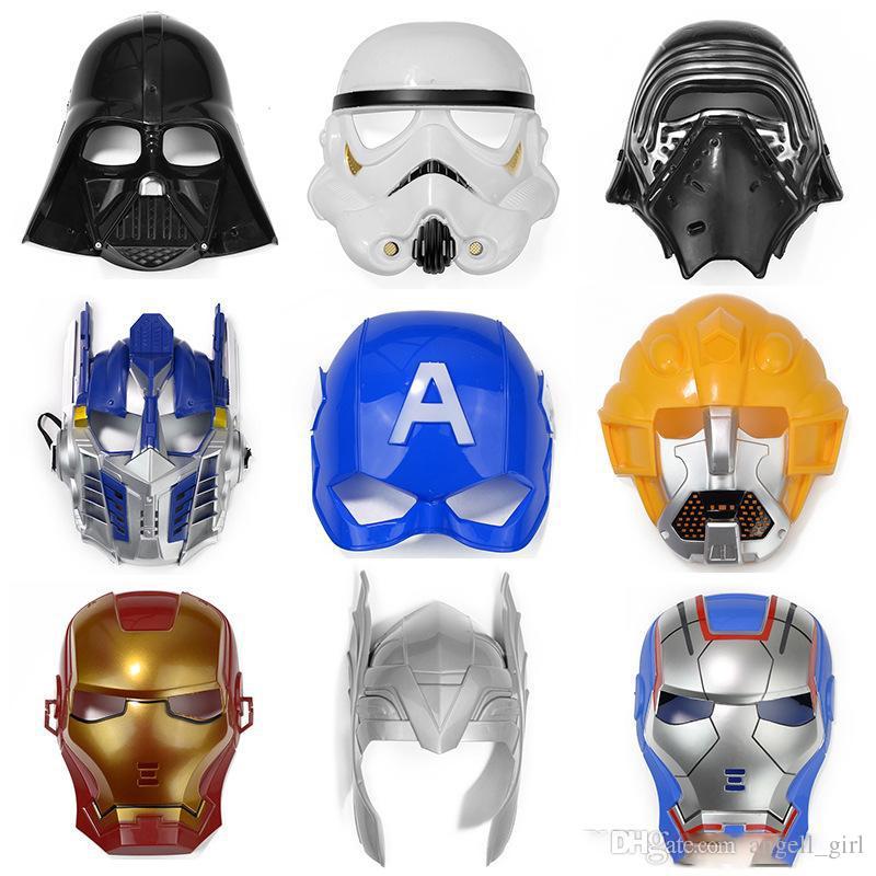 Compre Máscara De Halloween Máscara De Dibujos Animados, Capitán ...