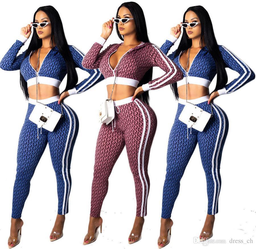 4ab7f5d82dd5 Autumn Women Fashion Jogger Sport Suit Tracksuits Pullovers Zipper ...