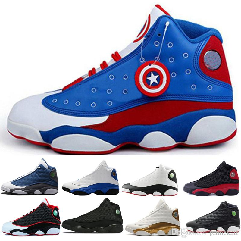 size 40 88f71 a4f6a Mens 2019 He Got Game 13 Italy Blue 13s black cat Hyper Royal Chicago  basketball shoes 13s bred Phantom sports Sneaker men