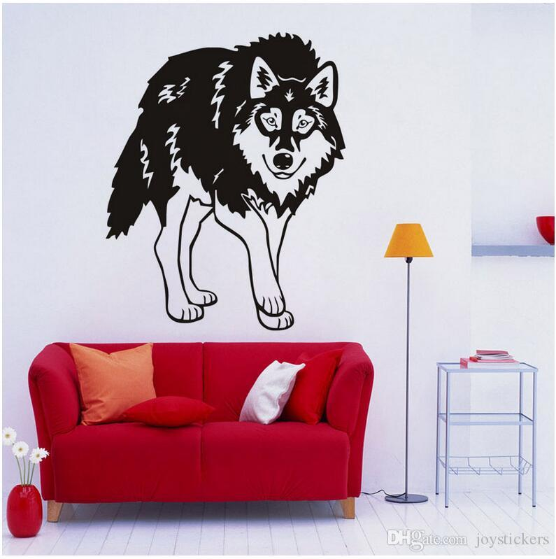 Creative Animal Wolf Direct Deal Door Wall Art Sticker Quote Sofa Background Decal Vinyl Removable Wall Stickers For Living Room 57 71 Cm Removable