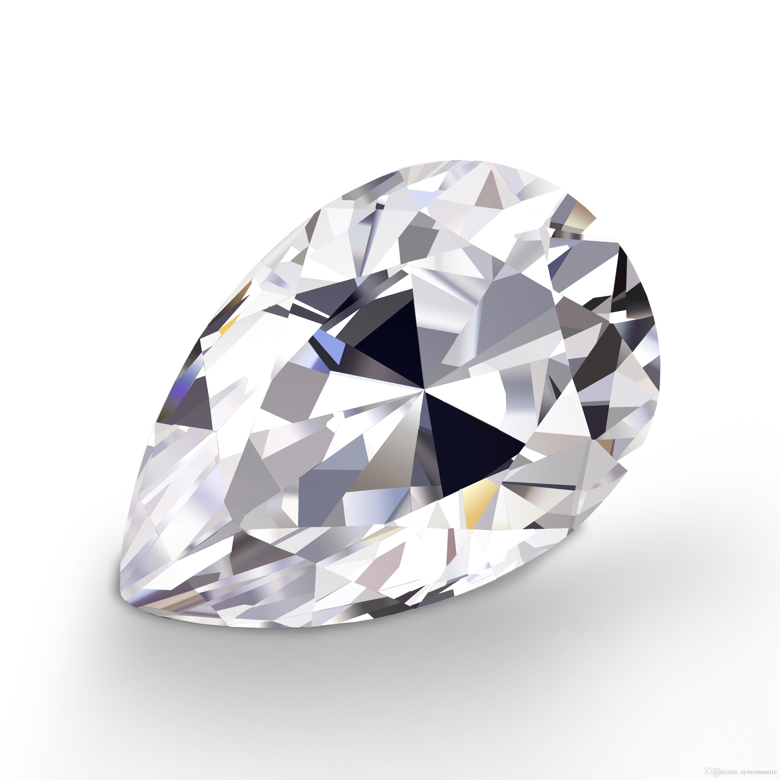 01ct60ct153mm1014mm Pear Cut With Certificate Df Color Vvs