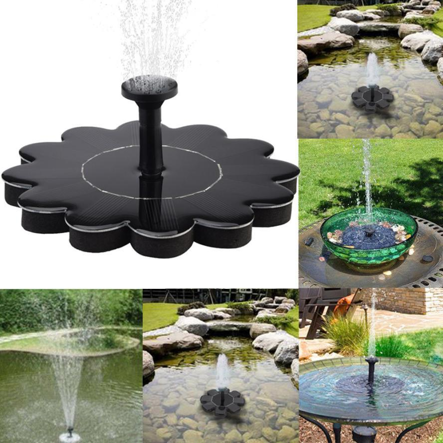2018 Floating 1.4w 5v Solar Power Bird Bath Water Fountain Pump Pool Pond  Garden Outdoor Water Fountain Gardening Tools And Equipment From Donaold,  ...