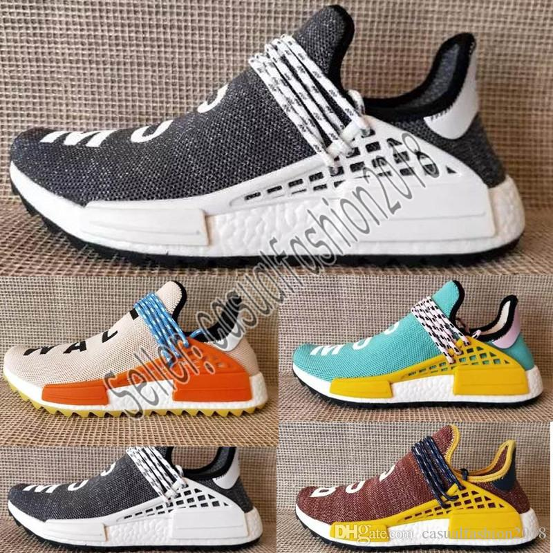 02af8d1c6f83 2019 2018 New Pharrell Williams Human Race Nmd Men Women Sports Running  Shoes Black White Grey Nmds Primeknit PK Runner XR1 R1 R2 Sneakers From ...