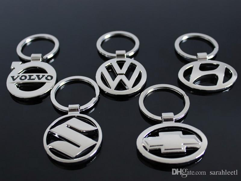 New Novelty Gift 3D Zinc Alloy Hollowed Car Logo Keychain Keyring - almost 50 Car Logo